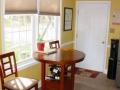 Kitchen Nook and Garage Door